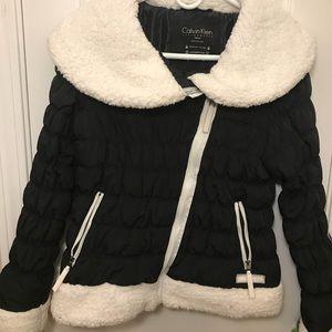 Calvin Klein Black Puffy Winter Jacket
